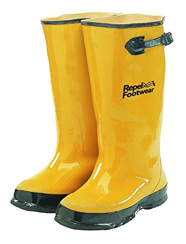 Galeton 7900-13 Repel Footwear Over-The-Shoe Rubber Slush Boots, Cotton Lined, 15.5