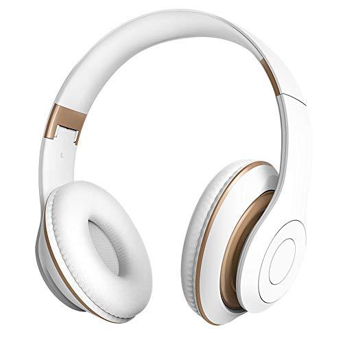 In-Ear Bluetooth Headset Draadloze Sport Headset Met Fitness Game Subwoofer Headset Met Ruisonderdrukkende Microfoon Computer Kantoor Callcenter,White