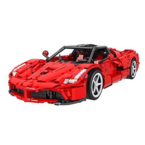 PEXL Modelo de coche deportivo para Ferrari, Technic Auto Maqueta MOC bloques de construcción 2460 bloques de construcción compatible con la técnica Lego