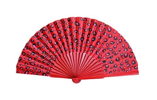 Abanico Sabana Rojo Mediano. Abanico español, artesano, pintado a man