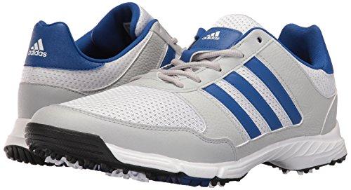 adidas Men's Tech Response 4.0 Golf Shoe, White/Royal, 12 M US