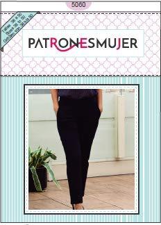 Patrones de costura. Pantalón de vestir mujer con tutorial en vídeo (youtube) para hacerlo tu misma. Tallas incluidas de la 38 a la 50.