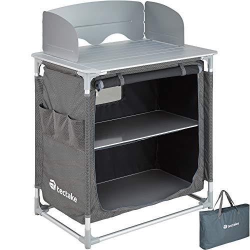 TecTake 800585 - Cocina de Camping, Aluminio, Ligera, Plegable - Varios Modelos (Tipo 3 | No. 402921)