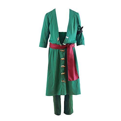 Ilovcomic Roronoa Zoro 2nd - Disfraz de Cosplay, Color Verde - Verde - Large