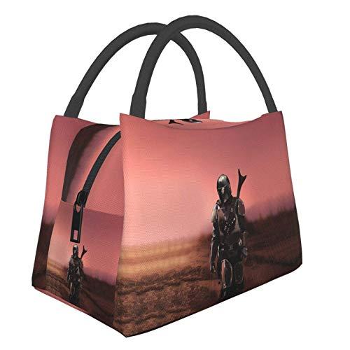 Mandalorian - Bolsa de almuerzo para mujer, tamaño pequeño, para ir de compras, escuela, picnic, viajes, camping