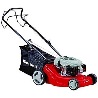 Einhell GC-PM 40 S-P Cortacésped de gasolina (1200 Vatios, altura de corte 5 niveles | 25-60 mm , ancho de corte 40 cm, hasta 1000m² de jardín, 50L de capacidad de bolsa) (ref.3404780)