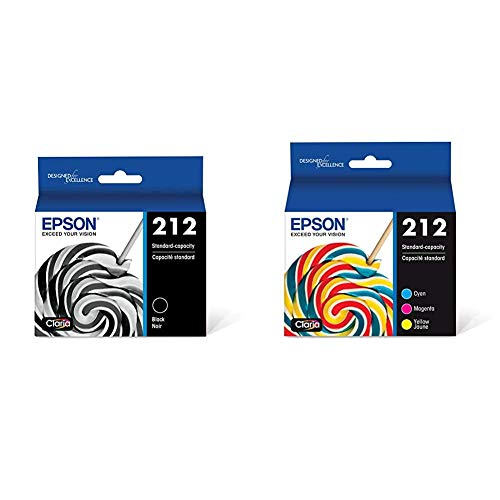 Epson T212 Claria Standard Capacity Cartridge Ink - Black, T212120-S & T212 Claria Standard Capacity Cartridge Ink - Color Combo Pack