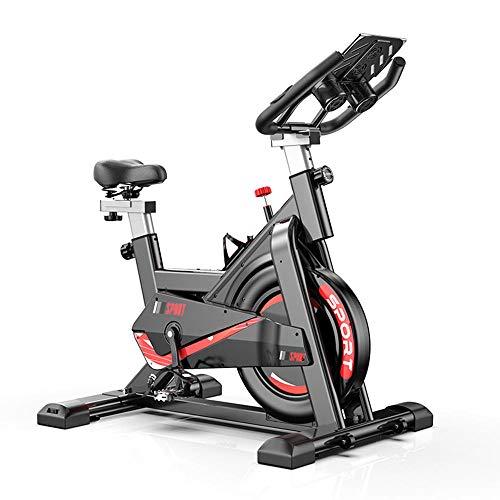 Divgdovg Bicicleta Estática para El Hogar Bicicleta de Spinning. Bicicleta Estática Vertical conPantalla LCD, Pulsómetro, Resistencia Variable, Altura Ajustable, Indoor, Volante de Inercia A