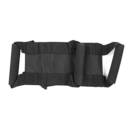 Keenso Oxford Tessuto Moto Vita Cintura Protettiva Regolabile Passeggero Cintura Moto Accessorio Protettivo equipaggiamento Protettivo Moto(Nero)