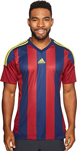 Price comparison product image Adidas Mens Adidas Soccer Men's Striped jersey,  Collegiate Burgundy / Dark Blue,  Large