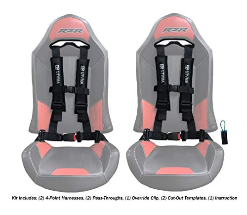 UTVMA 2 4-Point Harnesses w/ 2 RZR Seat Pass-Through and 1 Seat Belt Override Clip