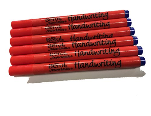 6 x Berol Handwriting Pens Available in Blue or Black
