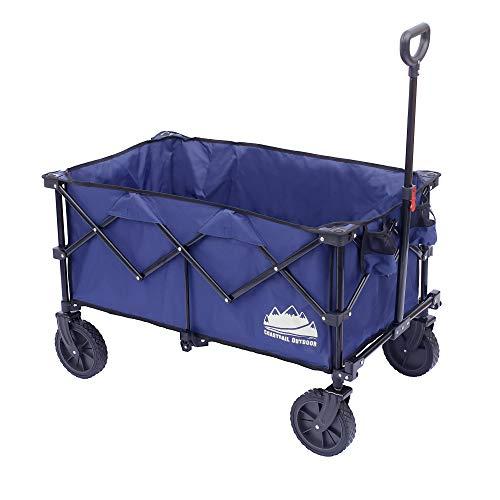 Coastrail Outdoor Collapsible Folding Wagon Utility Garden Cart 180lbs Heavy