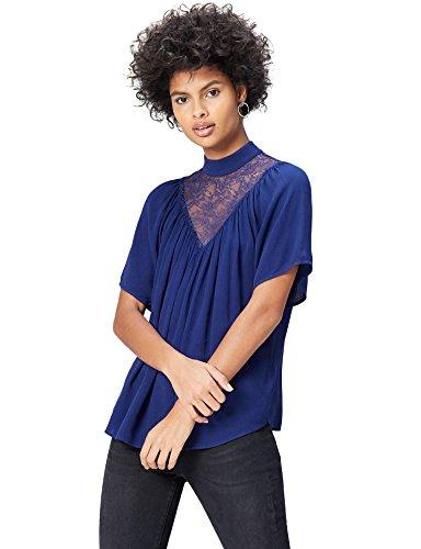 find. Lace Yoke, Blusa Para Mujer, Azul (French Blue), XX-Large