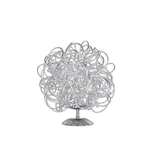 WOFI 8366.01.70.7000 Lampe de Table, Aluminium, Integriert, 10 W, Silber, 30 x 30 x 27 cm