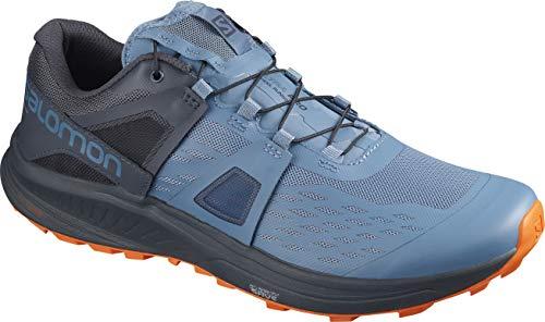 Salomon Men's Ultra/PRO Trail Running, Copen Blue/India Ink/Red Orange, 9.5