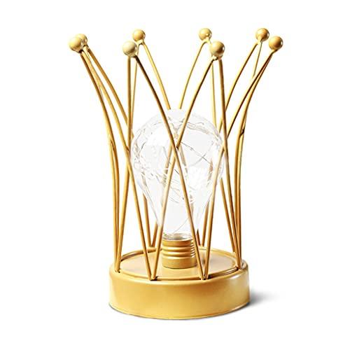 Wenyounge Lámpara de Noche LED en Forma de Corona Lámpara de Noche de Estilo nórdico Mejor para la decoración del hogar Lámpara de Escritorio Hierro Forjado
