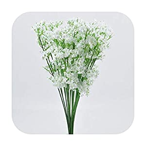 PrettyR Holding Dried Flower Decoration Artificial Gypsophilas Flower Fake Silk Wedding Party Bouquet Home Decor for Artificial New List