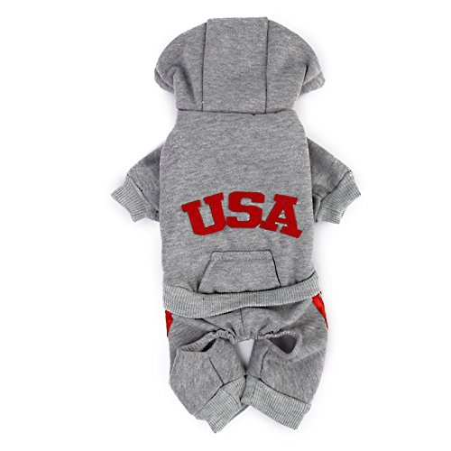 FLAWISH Soft Comfortable Fashionable Design Dog Puppy Hoodie Jumpsuit Coat Jacket Costume Outfit Clothing Accessory Pet Supplies...