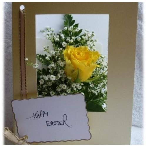 2685589d5630 Flowers Delivered - Yellow Rose Card - Fresh Flower by Post - Direct from  our Guernsey