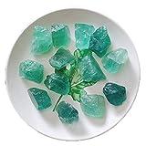 KAUTO Adornos de Piedra de fluorita Verde, decoración de Cristal curativo de Forma Irregular, Regalo curativo del Interior del hogar Feng Shui, 2~4 cm