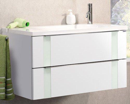 Lanzet Bad-Programm Vedro 900, Weiß Waschtisch, Weiß/Mint