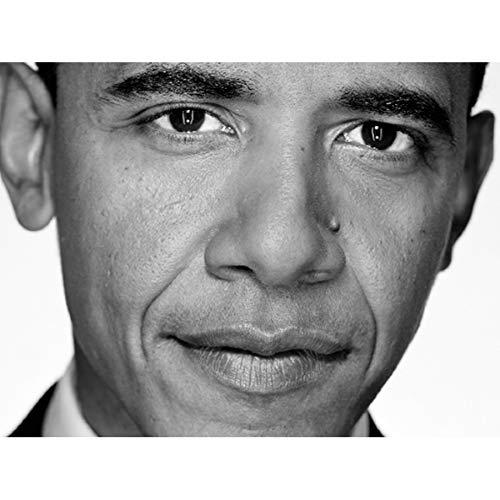 Doppelganger33 LTD Portrait President Barack Obama Close Up USA Large Art Print Poster Wall Decor 18x24 inch