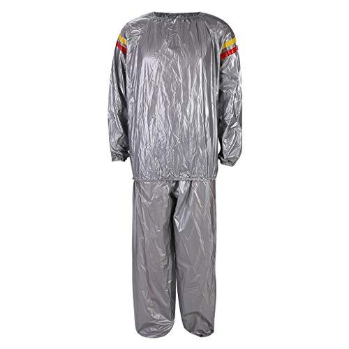 LSAltd PVC-Eignungs-Kleidung trägt die rote und gelbe schwitzende Sauna-Kleidung zur Schau, die Anzug abnimmt