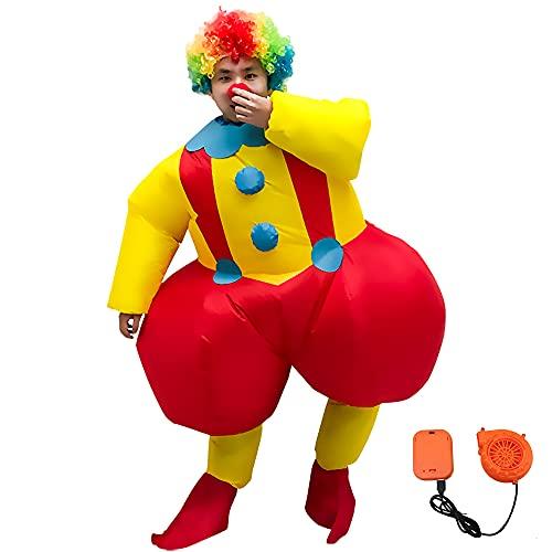 JW-YZWJ Disfraz de Rendimiento de Halloween Big Butt Payaso Navidad Payaso Inflaje Ropa Evento Rendimiento Divertido Propsito de Propsito
