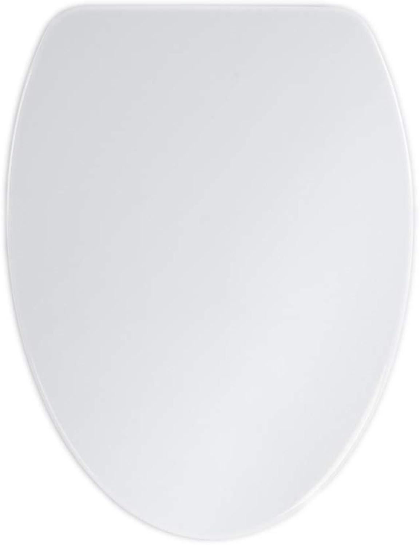 OUMTG Comfortable Quiet White Toilet Seat Toilet Bowl Urea-formaldehyde Resin Toilet Lid Easy To Clean