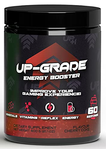 UP-GRADE - Energy Drink Pulver - Koffein Pulver für mehr Konzentration im e-Sport - 600 g 60 Servings (Cherry Coke)