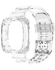 TEBI Universele vervanging siliconen transparante pols sport riem horlogeband voor -Fitbit Versa 3 zintuig armband smart horloge