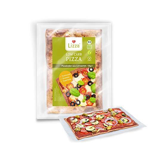 Lizza Low Carb Original Pizzaböden | Gesunde Pizza | 91% weniger Kohlenhydrate | Bio. Glutenfrei. Vegan. | Protein- & Ballaststoffreich | Ohne Zuckerzusatz | Ohne Konservierungsstoffe | 8x Pizzaböden