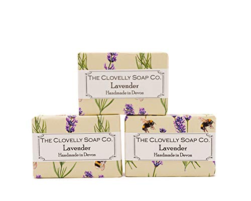 Clovelly Soap Co. Savon Naturel Fait Main - Lavande - Tous Types de Peau – 3x 100 g