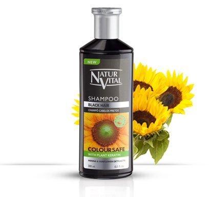 Natur Vital Henna Black Shampoo- Color and Shine- 300 Ml/Natural & Organic