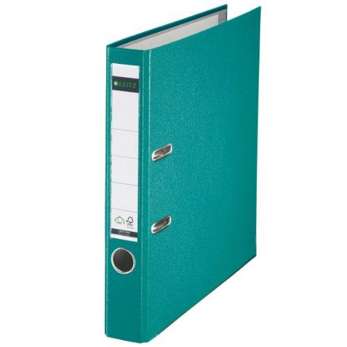 Leitz 10155052 Qualitäts-Ordner (Plastik-Cover, A4, 5,2 cm Rückenbreite) türkis