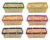 MIJOMA 6-teiliges Set Brotkorb Aufbewahrungskorb Allzweckkorb Korb-Schale Bambus, universell einsetzbar in Küche, Esszimmer, Speisekammer (rechteckig 21x15x7cm)