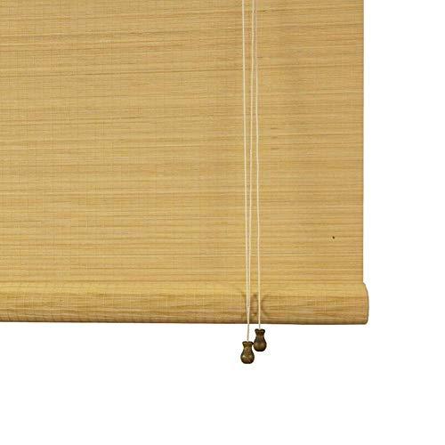 LY88 Persiana Enrollable de bambú Natural con Ganchos, Cortinas enrollables de Madera para Gazebo de Patio para partición de balcón, 80/100/120/130/140 cm de Ancho (tamaño: 140 y Tiempos; 220 cm)