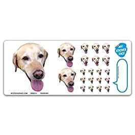 Custom Face Stickers, Photo Stickers, Stickers of Your Dog, Sampler Sheet – Pet Gift, Pet Stickers