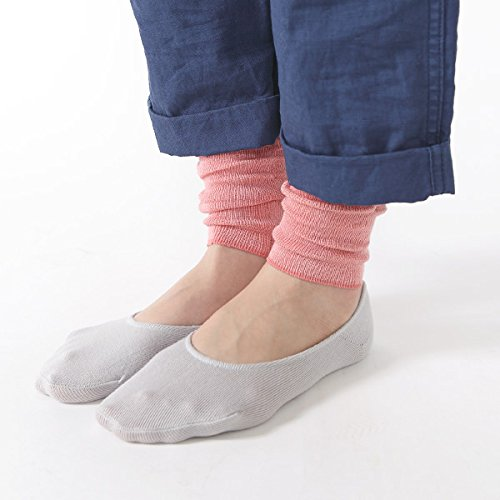 [Tabio]タビオシルクショートレッグウォーマー【気持ちいいシルクの靴下】SizeFreeクロ