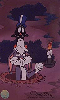 Chuck Jones Artwork Depicting Bugs Bunny and the Little Penguin. From the Cartoon, 8 Ball Bunny. Ltd Print Matted to 8