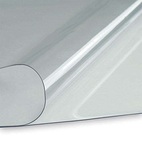 LYSEL® PVC Klarsichtfolie Fensterfolie Plane 1,0mm 140cm breit transparent durchsichtig UV-beständig