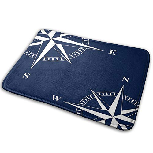 Star Compass Sea Nautical Decoration Personalized Super Soft Non-Slip Door Mat Indoor Outdoor Carpet for Office Decoration