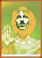 ポスター リチャード アベドン ザ ビートルズ ジョージ・ハリスン 1967年 額装品 ウッドベーシックフレーム(オレンジ)