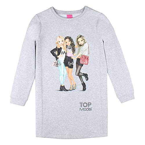 T-Shirt Blanco Top Model Manga Larga supermodelo ni/ñas Camiseta
