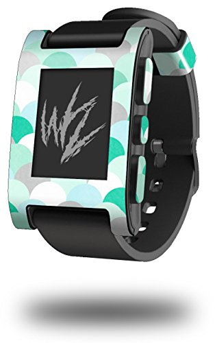 Brushed Circles Seafoam - Decal Style Skin fits Original Pebble Smart Watch (Watch Sold Separately)