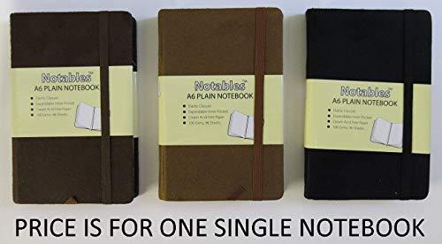 Tiger Notables - Cuaderno (A6, con tapa de ante), diseño liso