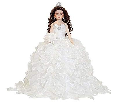 "24"" Porcelain Quinceanera Umbrella Doll (Table Centerpiece)~White~KB24727-1"