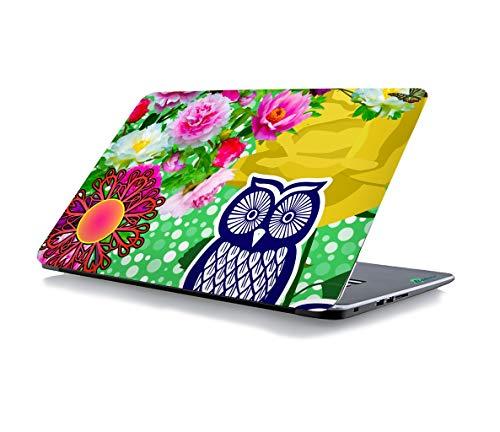 RADANYA Eule Floral Laptop Skin Aufkleber Passt Für Alle Modelle Für Bildschirmgrößen - 15 X 10 Zoll