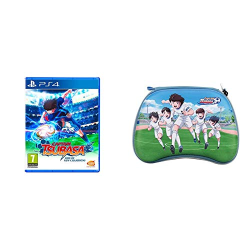 Captain Tsubasa: Rise of New Champions - PlayStation 4, Standard + Captain Tsubasa Controller Case Nankatsu (PS4, PS5, Xbox One, Series X, Google Stadia)